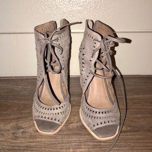 Jeffery Campbell Rodillo Grey Wedge Sandal